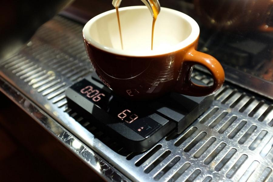 Acaia lunar на кофемашине