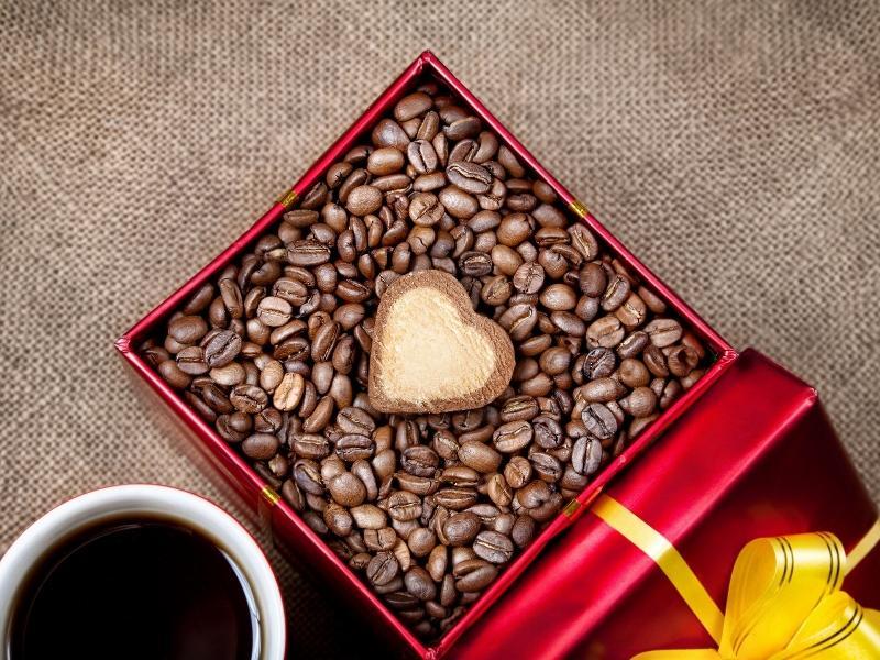 Подарочная коробка с кофе